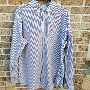 Brooks Brothers Top Size 17-36 Mens Purple White S